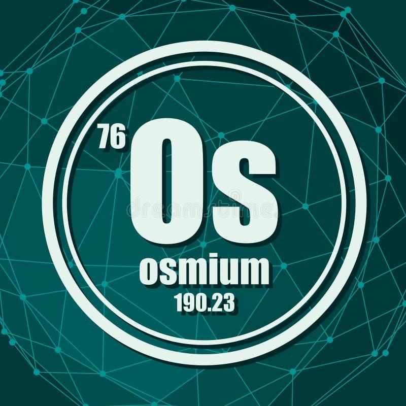 Elemento chimico dell'osmio royalty illustrazione gratis