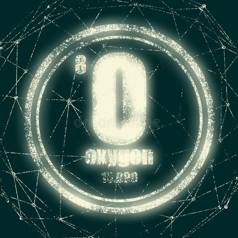 Elemento chimico dell'ossigeno illustrazione di stock