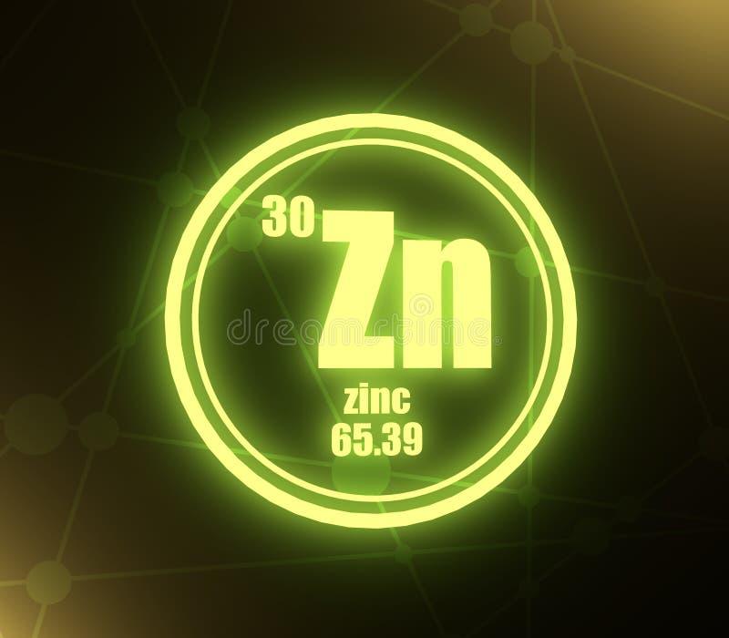 Elemento chimico dello zinco royalty illustrazione gratis