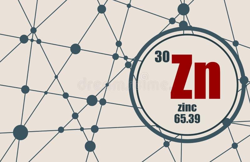 Elemento chimico dello zinco illustrazione vettoriale