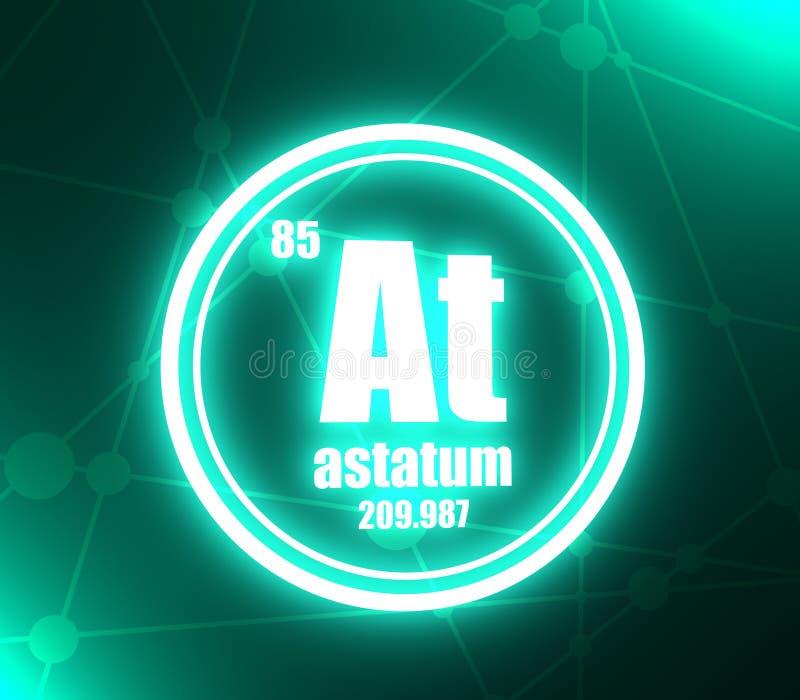 Elemento chimico di Astatum illustrazione vettoriale