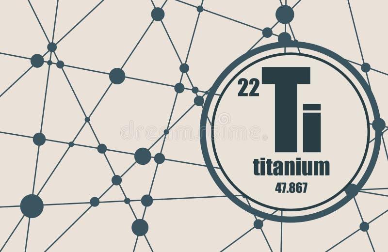 Elemento chimico di titanio royalty illustrazione gratis
