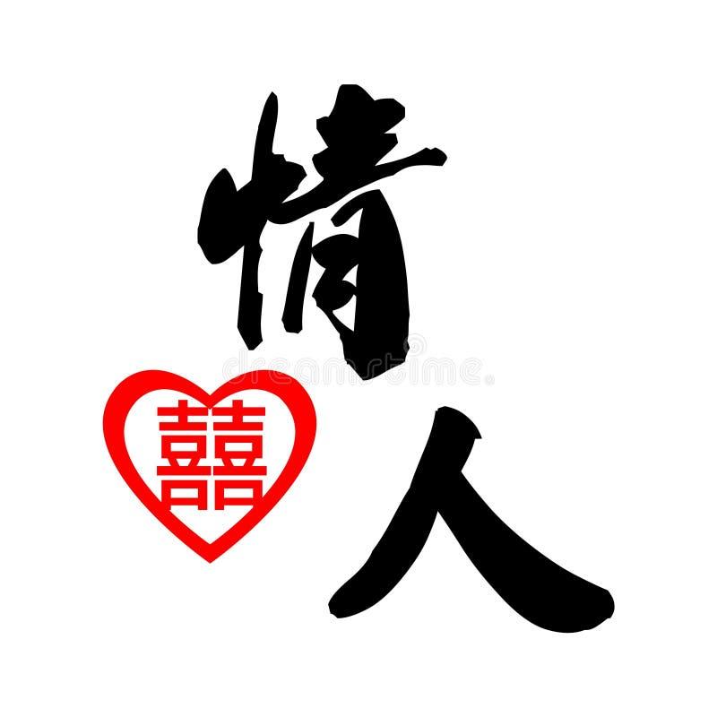 Elemento chinês para o amante ilustração royalty free