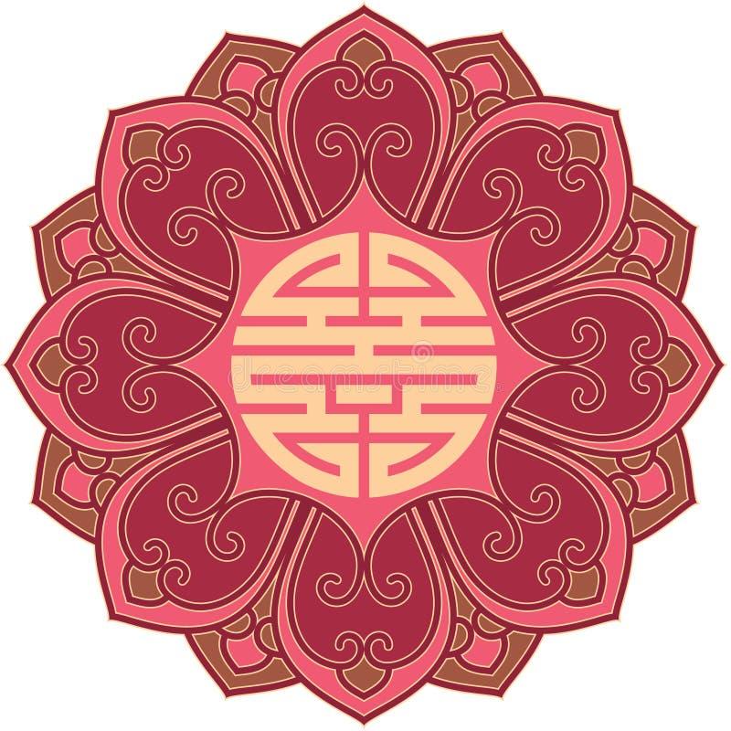 Elemento chino del diseño de la flor libre illustration