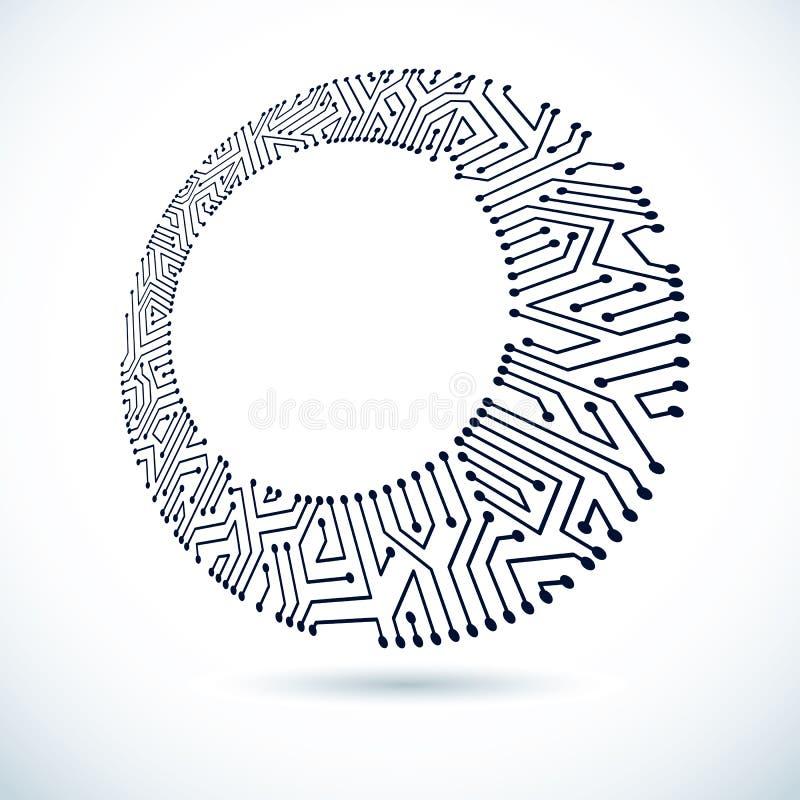 Elemento cibernético de la comunicación de la tecnología Enfermedad abstracta del vector libre illustration