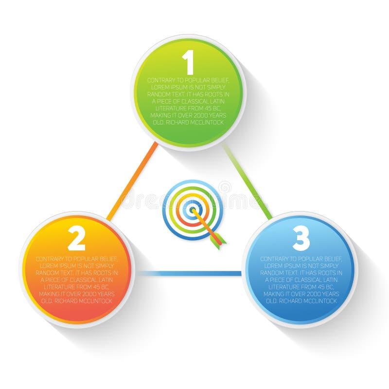 Elemento 3Circle di affari immagini stock