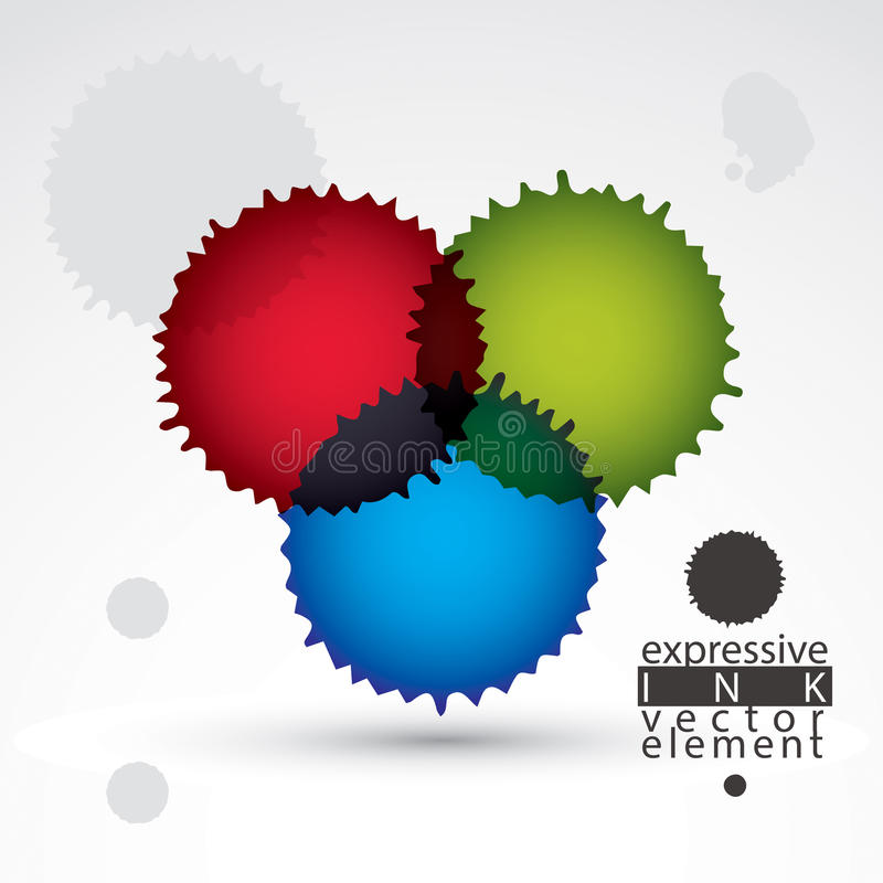 Elemento colorido del chapoteo de la pintada de la acuarela, p inexacto brillante libre illustration
