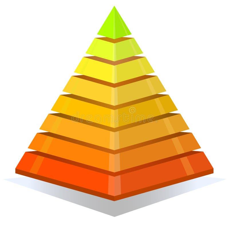 Elemento colorido del diseño de la pirámide stock de ilustración