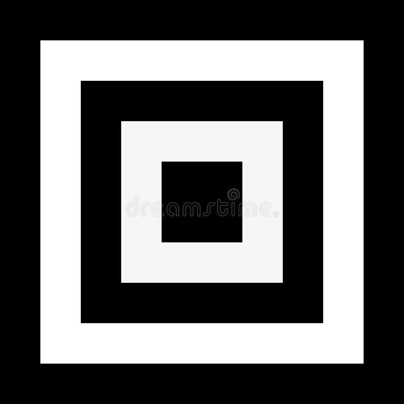 Elemento cuadrado abstracto con efecto de la deformación Cuadrados convergentes ilustración del vector