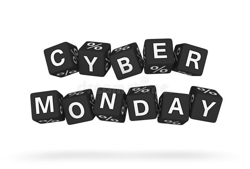 Elemento cyber di progettazione di lunedì illustrazione di stock