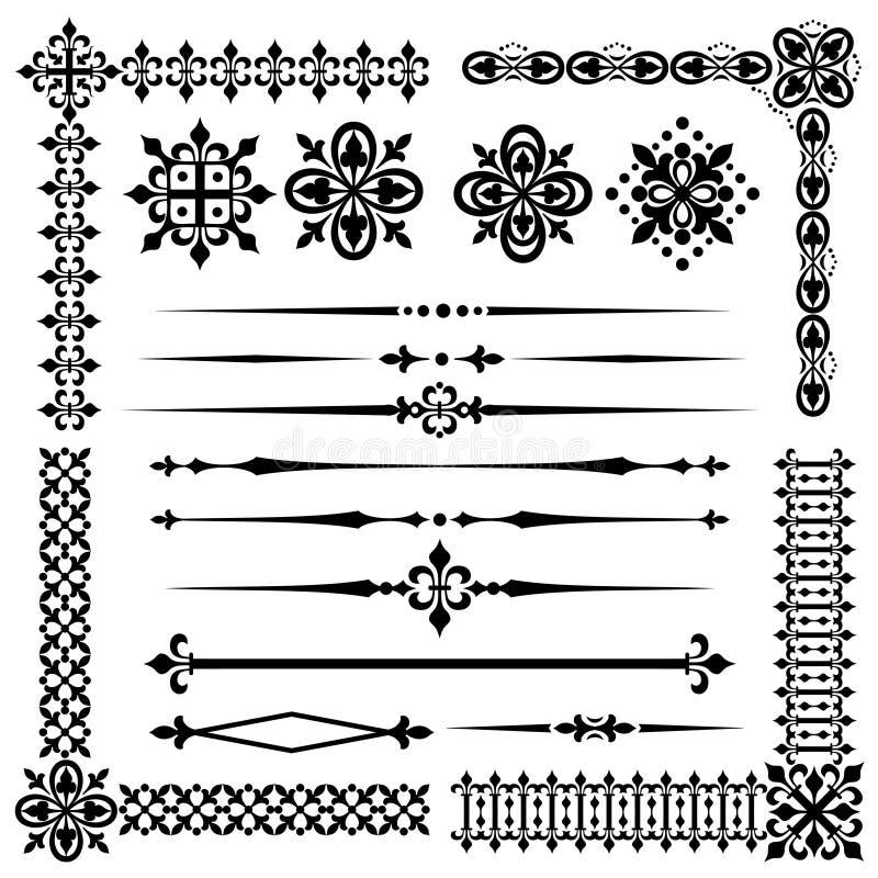 Elemento d'annata di progettazione illustrazione di stock