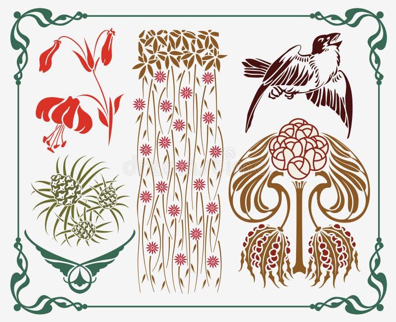 Elemento da Arte-nouveau ilustração royalty free