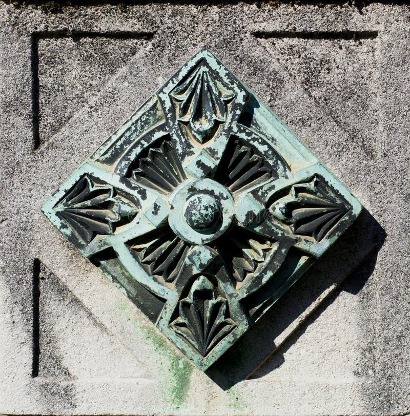Elemento da decoração do metal (teste padrão abstrato da natureza) foto de stock