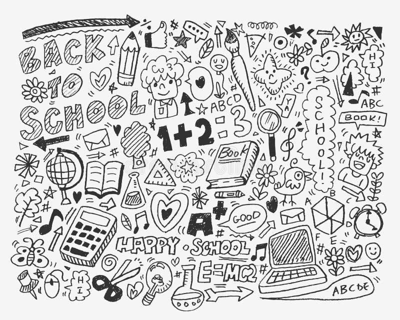 Elemento da escola da tração da mão ilustração do vetor