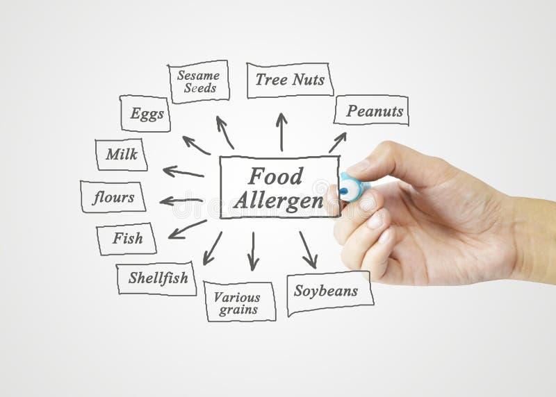 Elemento da escrita da mão das mulheres de alérgenos principais do alimento & de x28; Amendoins, Tre fotos de stock royalty free