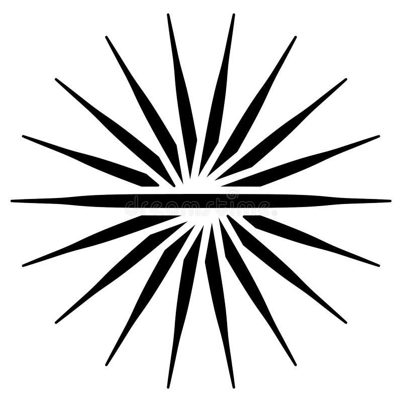 Elemento da espiral/redemoinho Concêntrico, irradiando as linhas GR abstrata ilustração royalty free