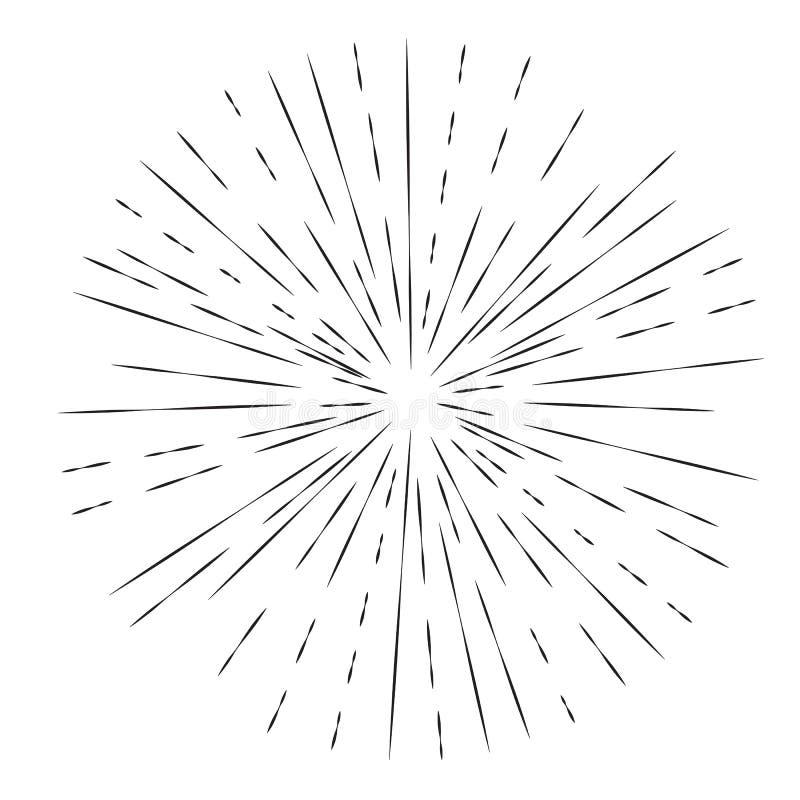 Elemento da explosão da estrela ilustração stock