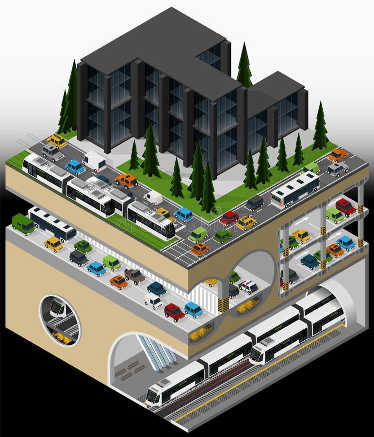 Elemento da infraestrutura urbana ilustração do vetor