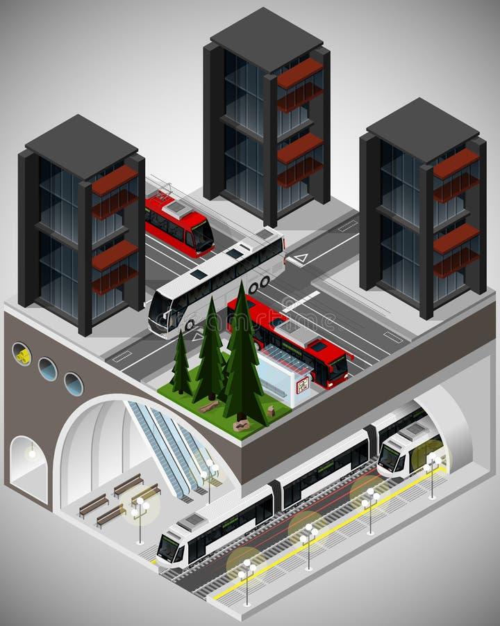 Elemento da infraestrutura urbana ilustração stock