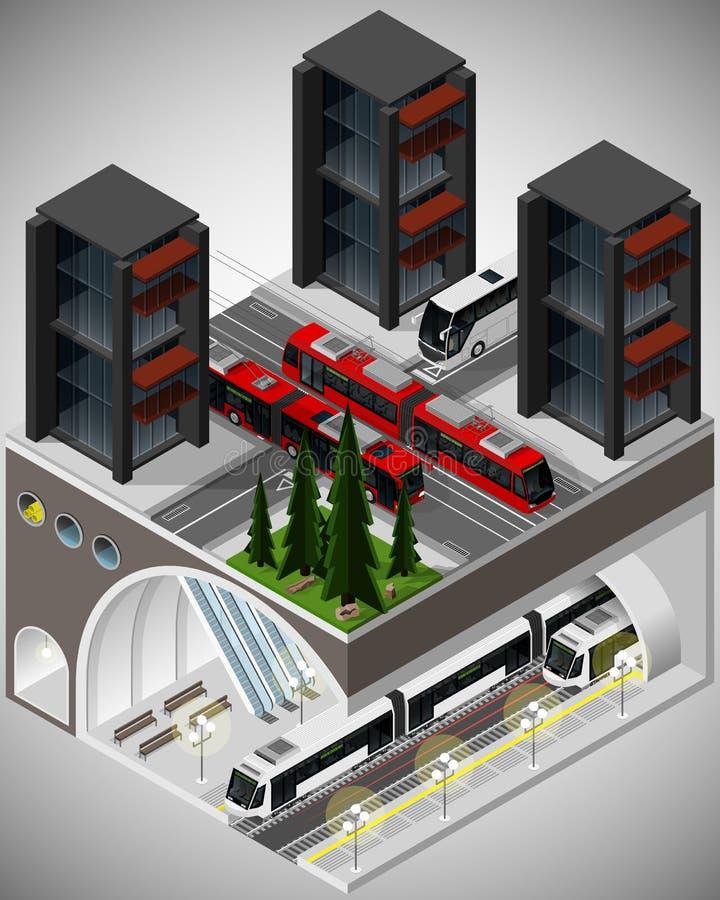 Elemento da infraestrutura urbana ilustração royalty free