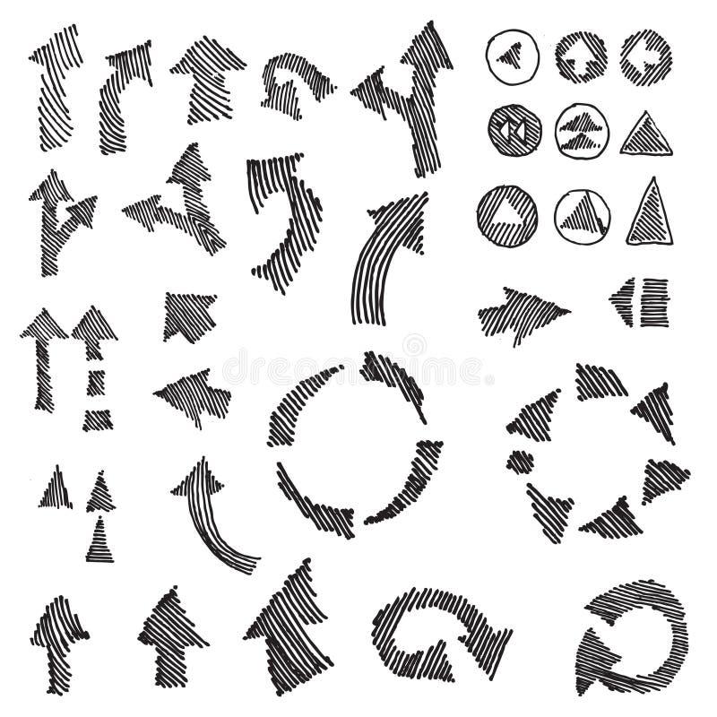 Elemento da tração da mão das setas   ilustração royalty free