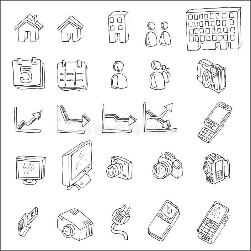 Elemento da tração da mão de uma comunicação   ilustração stock