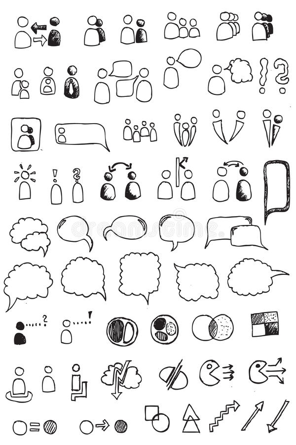Elemento da tração da mão de uma comunicação ilustração royalty free