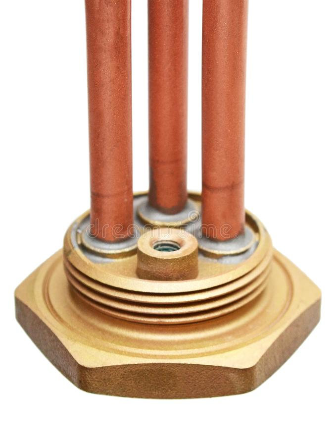 Elemento de aquecimento rosqueado de uma caldeira de água fotos de stock royalty free