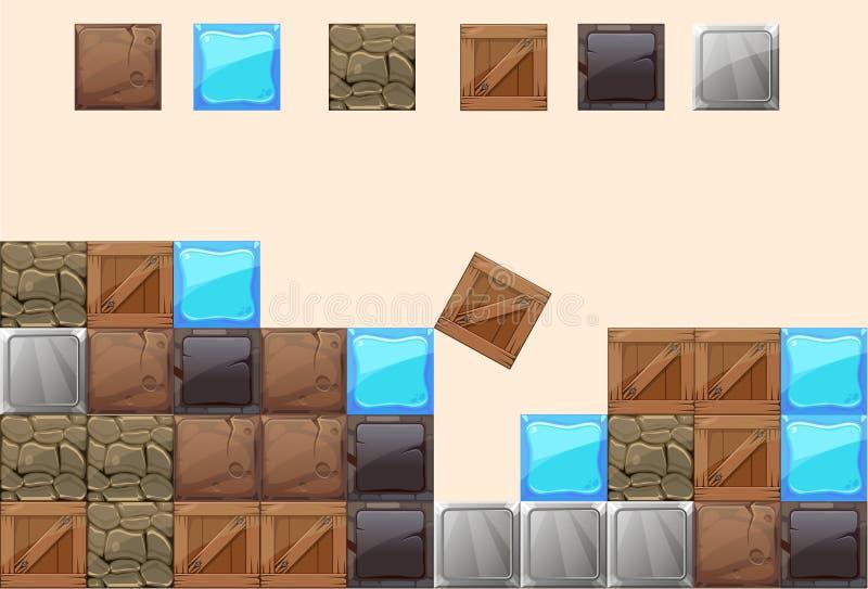 elemento de bloque ilustración del vector