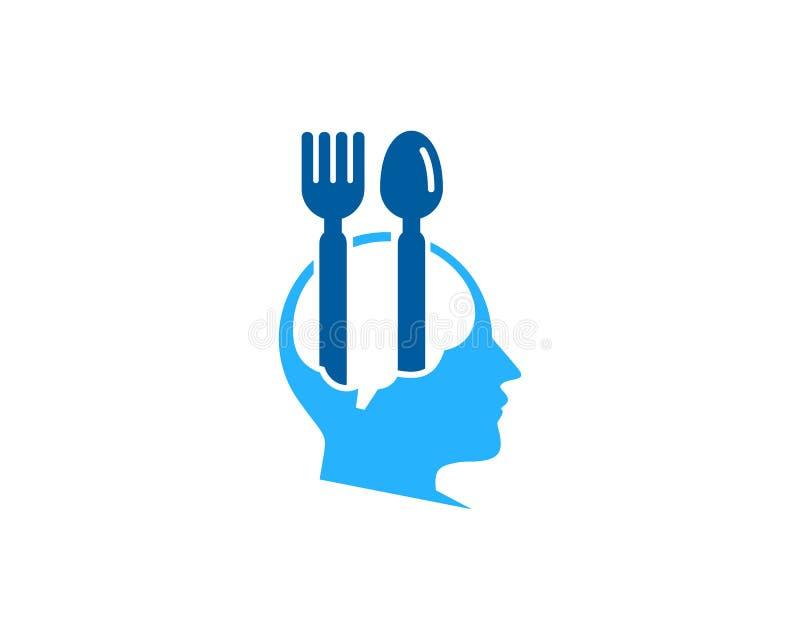 Elemento de Brain Food Icon Logo Design ilustración del vector