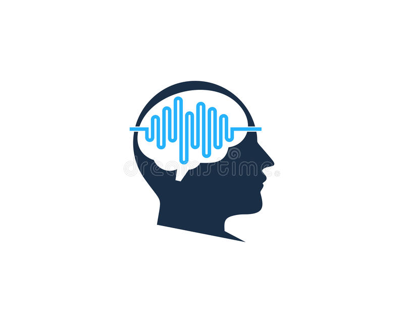 Elemento de Brain Wave Icon Logo Design ilustración del vector