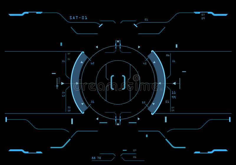Elemento de destino del interfaz stock de ilustración