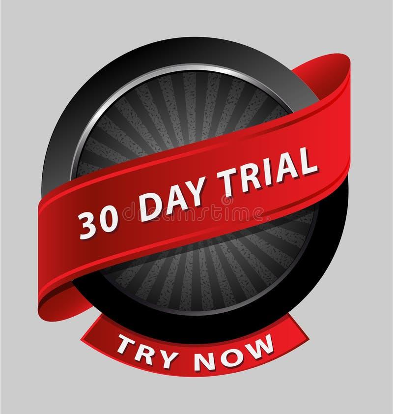 elemento de ensayo del diseño de 30 días stock de ilustración
