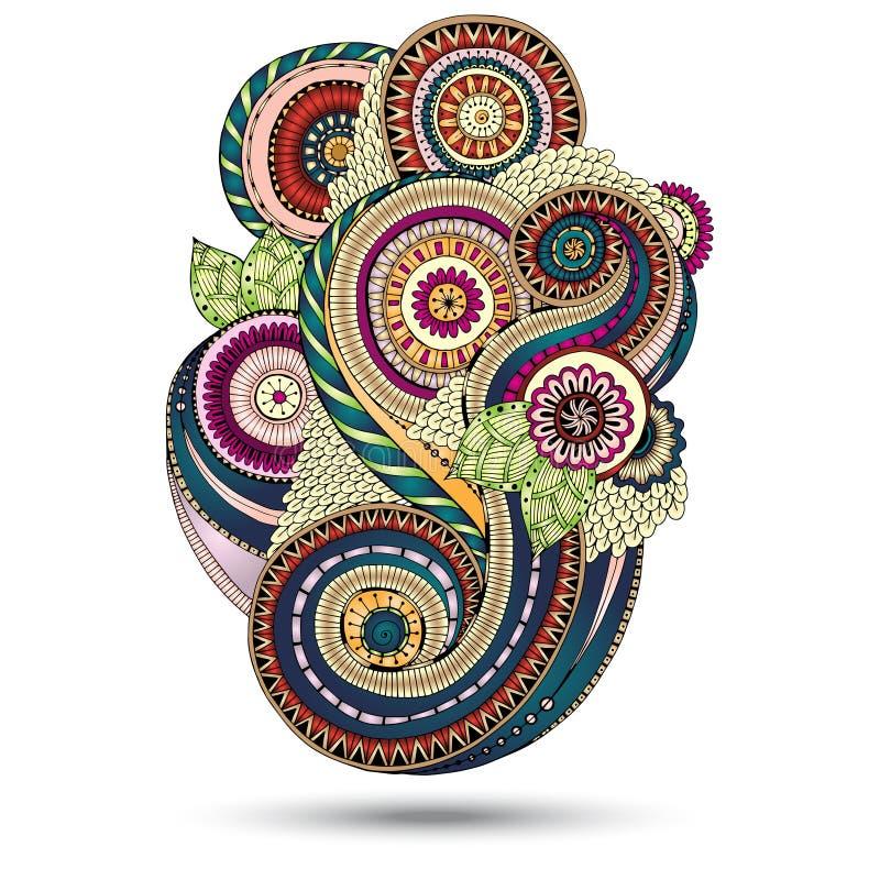 Elemento de Henna Paisley Floral Vetora Design ilustração do vetor