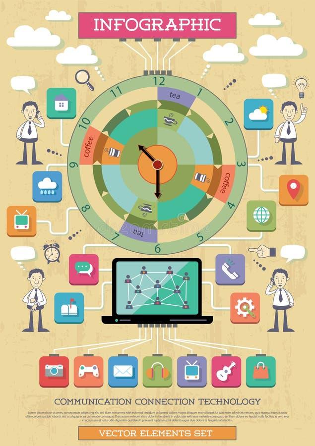 Elemento de Infographic. Conexão a Internet. ilustração do vetor