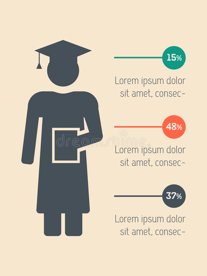 Elemento de Infographic da educação ilustração royalty free