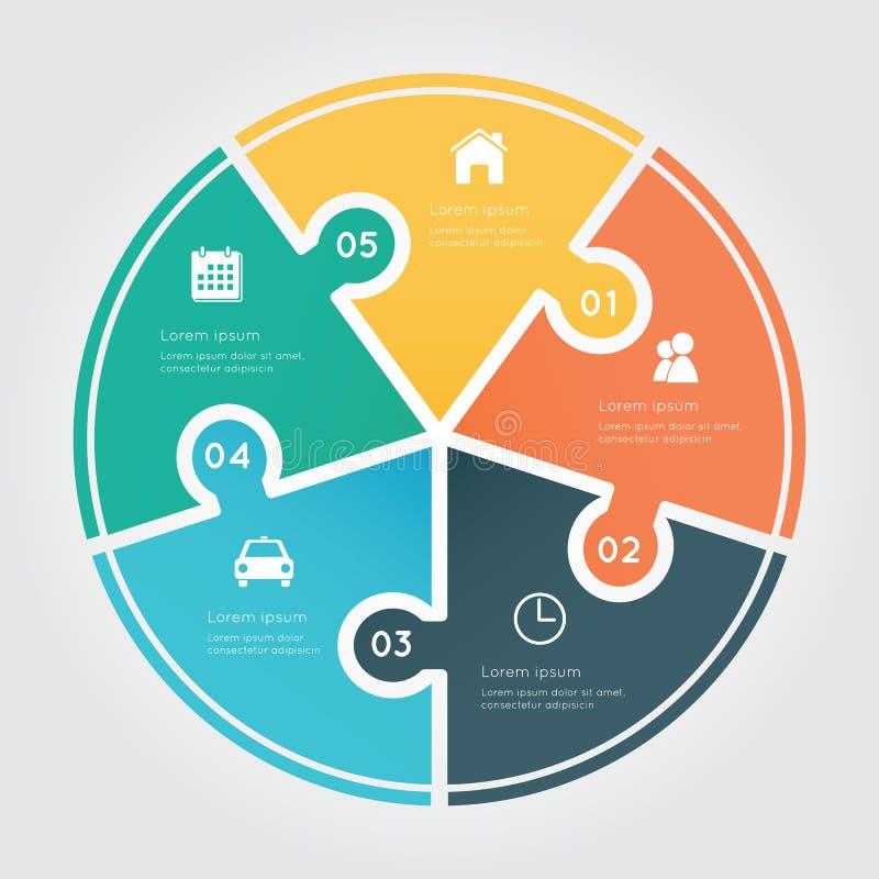 Elemento de Infographic do círculo ilustração royalty free