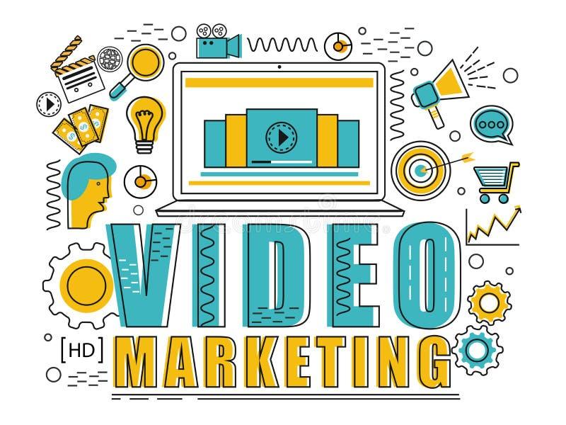 Elemento de Infographic para o conceito video do mercado ilustração do vetor