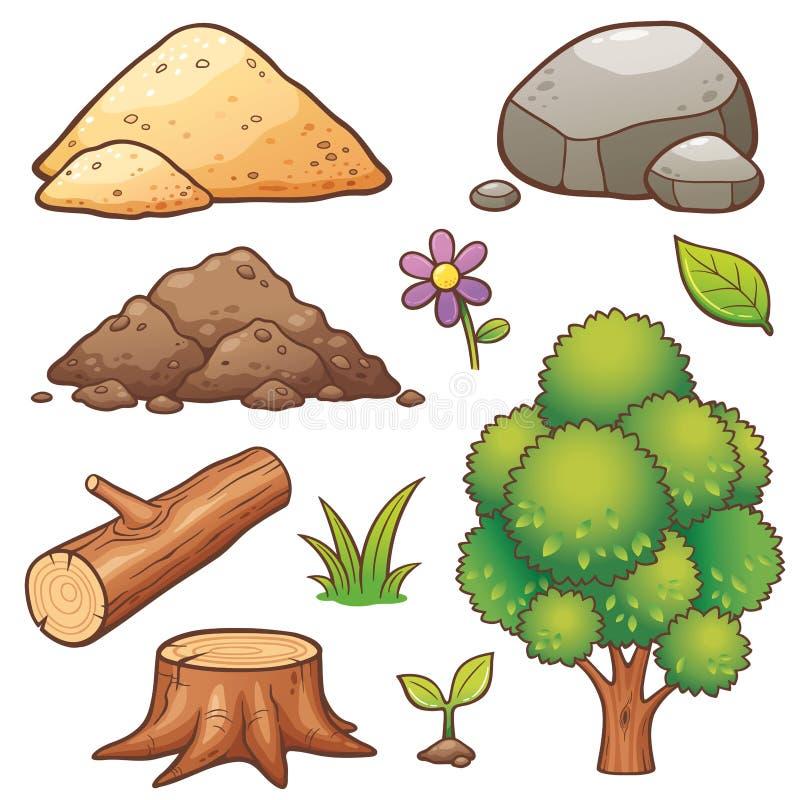 Elemento de la naturaleza ilustración del vector