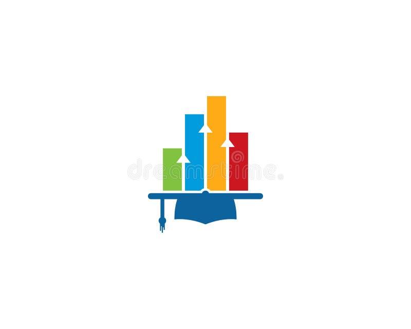 Elemento de Logo Design do ícone da educação do relatório do Stats ilustração do vetor
