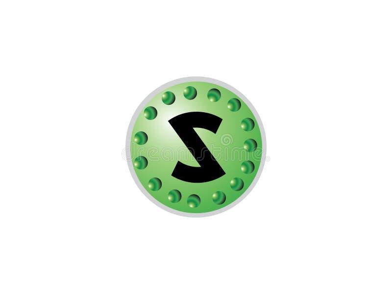 Elemento de Logo Vector Graphic Branding Letter del diseño de la letra inicial S stock de ilustración