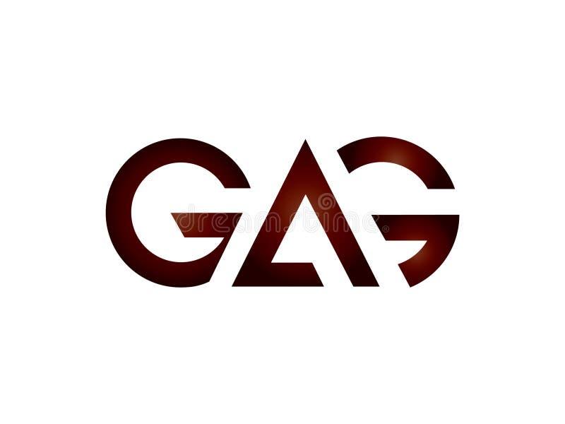 Elemento de Logo Vetora Graphic Branding Letter do projeto da MORDAÇA da letra inicial ilustração royalty free