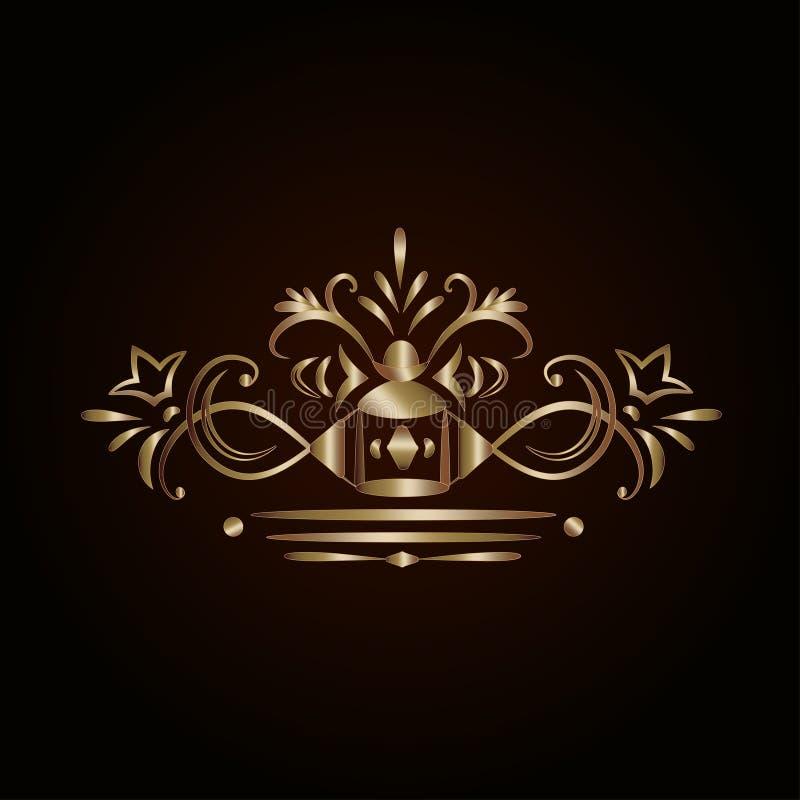 Elemento de oro adornado del diseño libre illustration