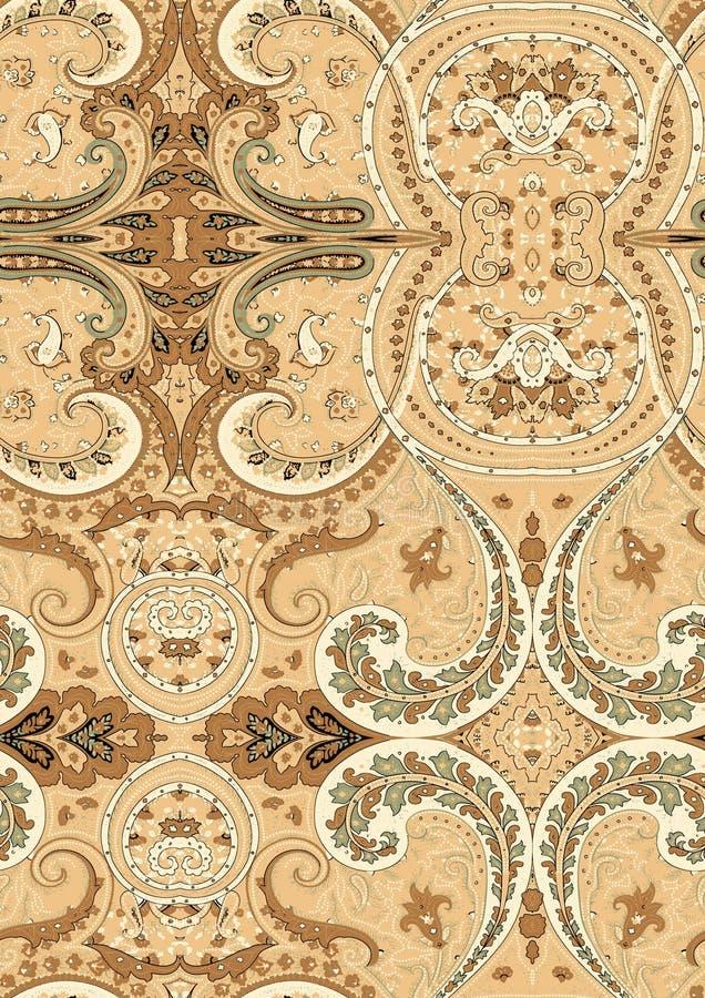 Elemento de padrão sem descontinuidades do Vintage damask Textura elegante de luxo para têxteis, papéis de parede, fundos e preen ilustração stock