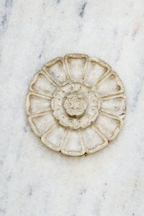 Elemento de piedra tallado mano del diseño fotos de archivo libres de regalías