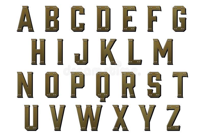 Elemento de Scrapbooking do estilo de Steampunk do alfabeto de Digitas ilustração royalty free