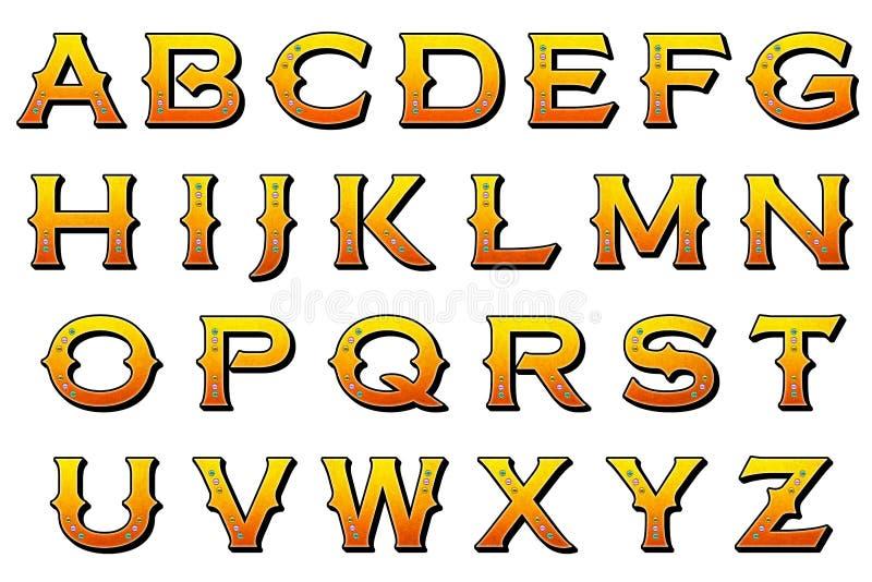 Elemento de Scrapbooking do estilo do carnaval do alfabeto de Digitas ilustração do vetor