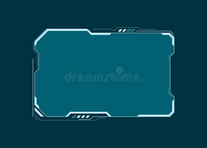 Elemento de tela futurista da interface de usu?rio de HUD Painel virtual Projeto abstrato da disposi??o do painel de controle Exp ilustração royalty free