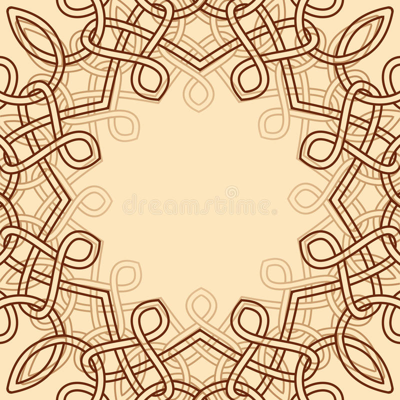 Elemento decorativo celta do projeto ilustração royalty free