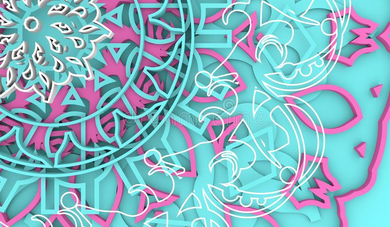 Elemento decorativo del diseño libre illustration